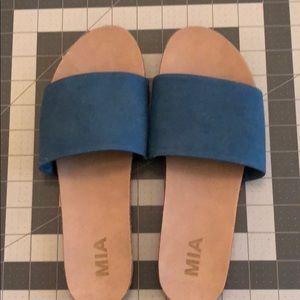 Women's, new, no tags, Mia blue slide on